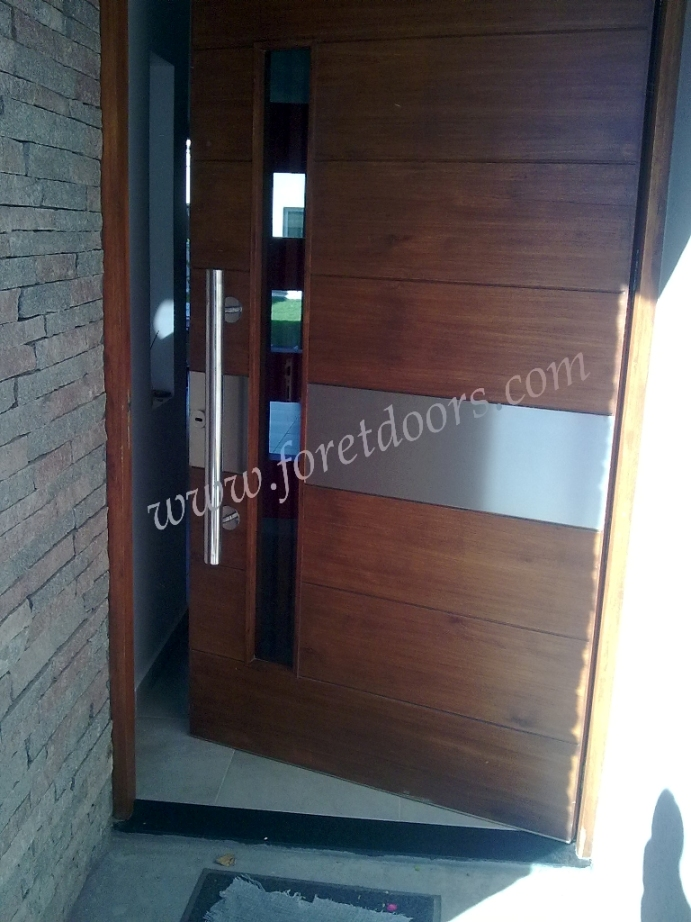 More Contemporary Modern Wood Front Entry Doors By Foret Doors