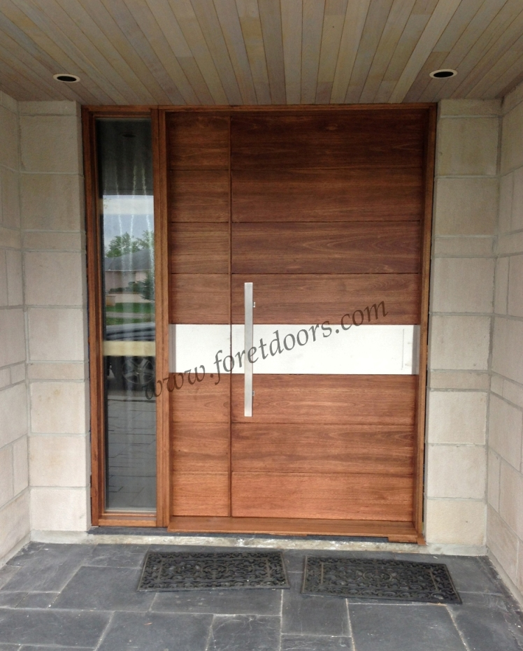 More contemporary modern wood front entry doors by foret for Puertas principales para casas modernas