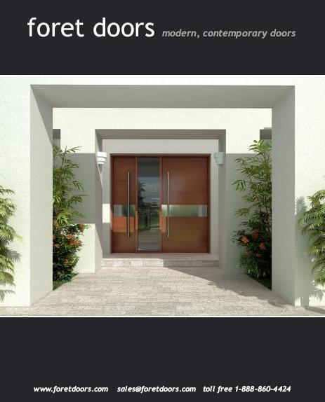 Modern contemporary european style front entry doors by Foret ...