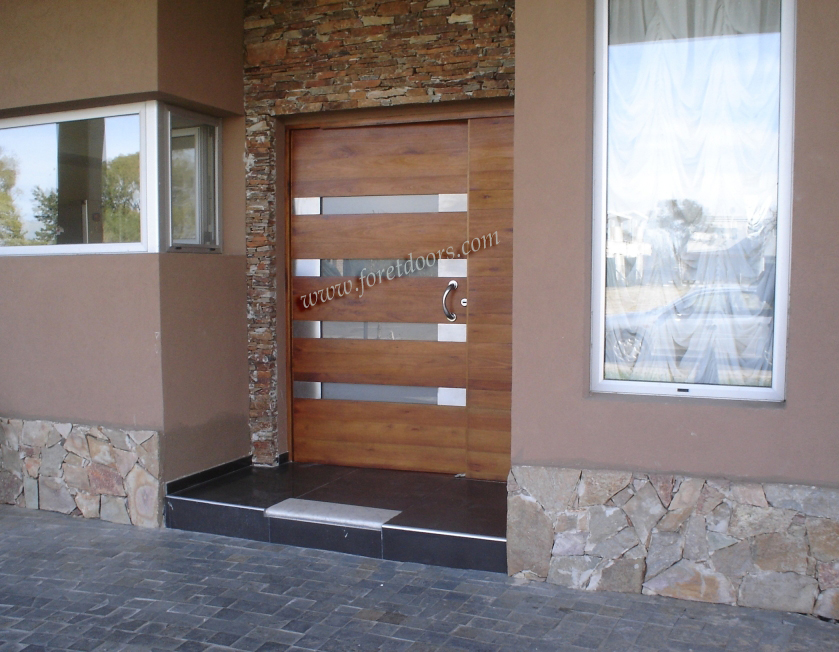 Modern wooden front doors images for Contemporary front doors