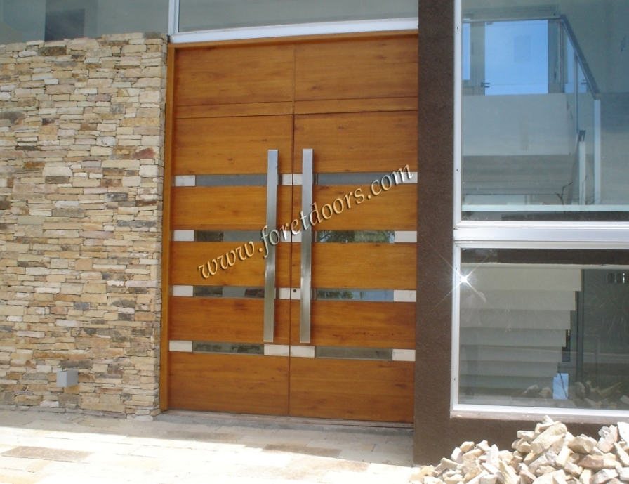 Gallery of contemporary modern wood front entry doors by for Modern exterior doors