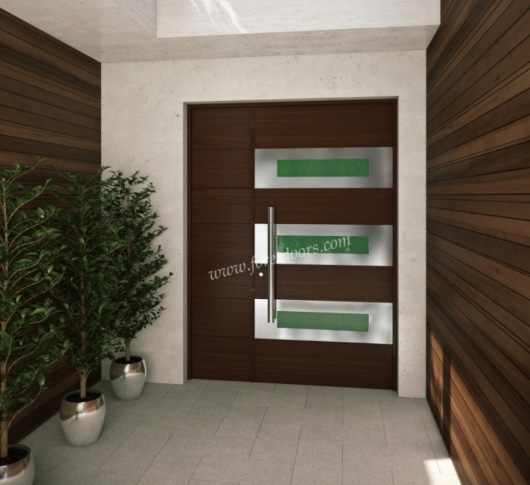 Pics for modern wooden front doors for Contemporary front doors