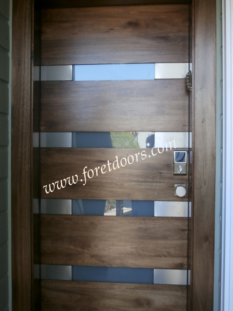 More modern wood exterior doors by Foret Doors contemporary