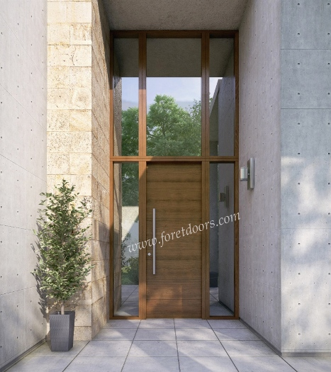 Gallery of modern wood front entry doors in stock at a