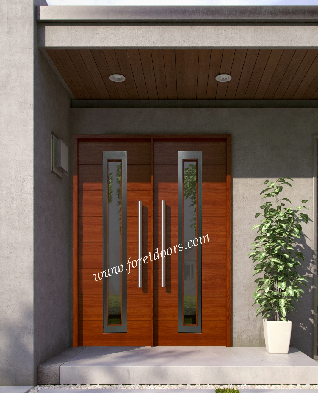 1323 #783414 Wood Front Entry Doors In Stock At A Discount Price By Foret Doors  wallpaper Discount Wood Entry Doors 41651069