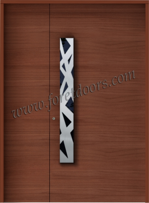 New modern entry door pulls by Foret Doors - contemporary stainless ...